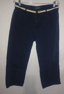 LRL Ralph Lauren Navy Capri Pants Szc10